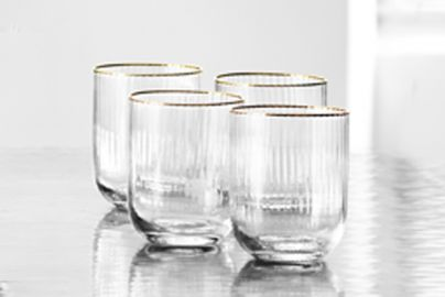 Lyngby Palermo gold vannglass