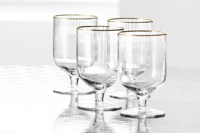 Lyngby Palermo gold vinglass 30cl 4 stk