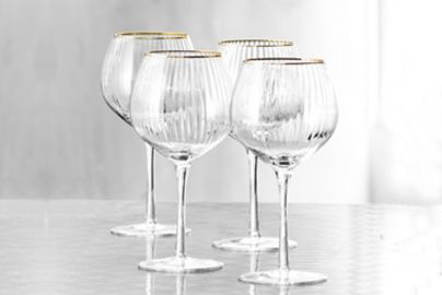 Lyngby Palermo gold gin & tonic glass