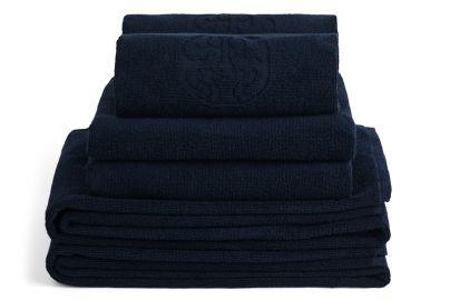 GJD håndklær kongeblå 2+2+2stk. 70x140, 40x70, 50x100 cm
