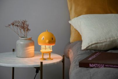 Hoptimist lampe gul H13,5 cm