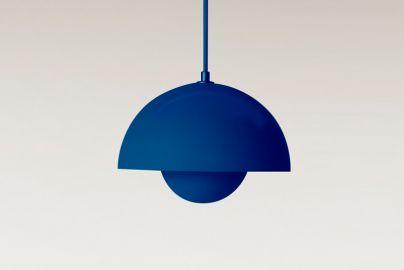 Verner Panton Flowerpot VP1 pendel blå Ø23 cm
