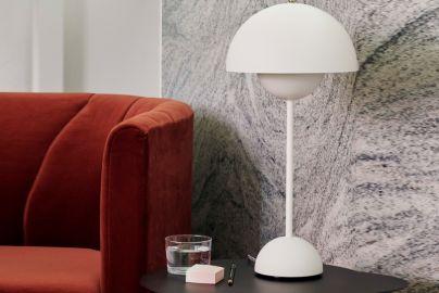 Verner Panton Flowerpot bordlampe VP3 matt hvit