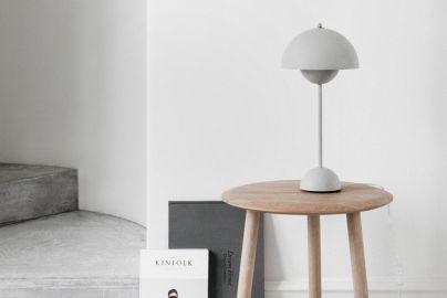 Verner Panton Flowerpot bordlampe VP3 matt grå