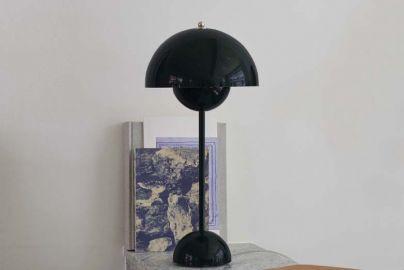 Panton Flowerpot Bordlampe VP3 blank sort