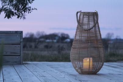 Skagen Lanterne med LED kubbelys