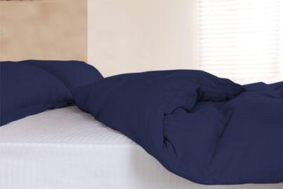 Elegant sengetøy i egyptisk bomull, blå