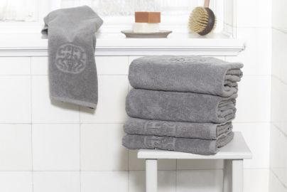 GJD ØKO håndklær Monogram grå 2+2+2