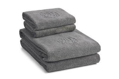 Georg Jensen Damask ØKO håndklær Monogram grå 2+2