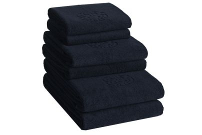 GJD ØKO håndklær Monogram kongeblå 2+2+2