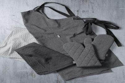 Bastian tekstilsett recycle 5 deler grå og mørk grå