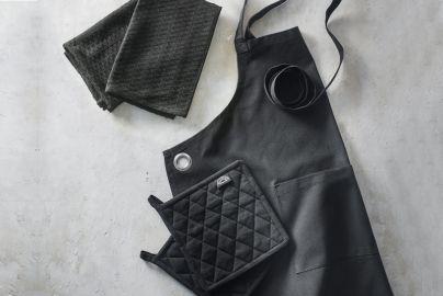 Pillivuyt tekstilsett recyclet, 5 deler sort