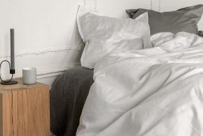 GJD PLAIN sengetøy hvit 140x200 2 sett