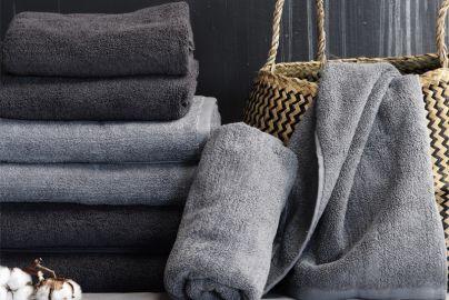 Omhu Håndklepakke med 8 stk. lys/mørk grå