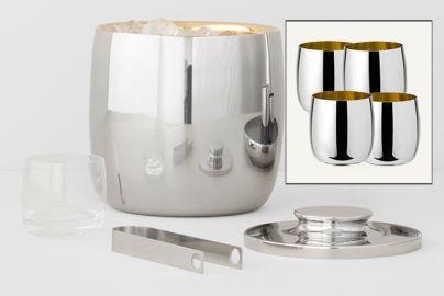 Stelton Norman Foster champagnekjøler & vinglass