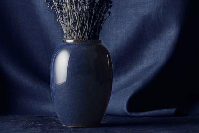 Bitz vase blå 50cm