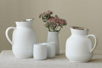 Stelton Amphora termokannesett hvit