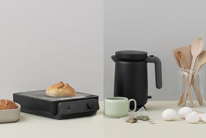 Stelton RIG-TIG Foodie toaster og vannkoker sort