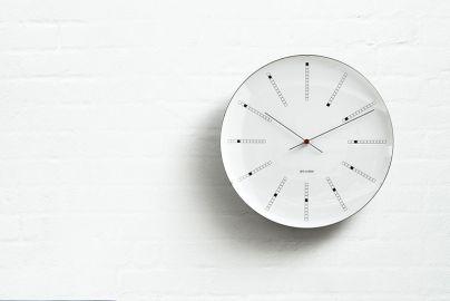 Arne Jacobsen bankers veggur Ø29 cm hvit