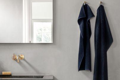 GJD håndklær kongeblå 4 + 4 stk. 70x140 cm, 40x70 cm