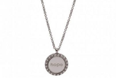 "Halskjede ""hope"" i stål"