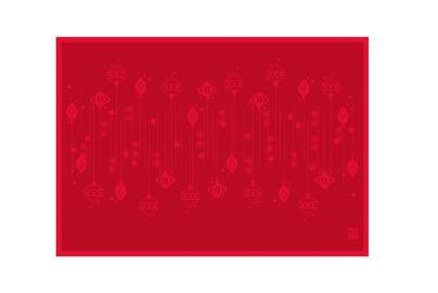 Uno Image DAMASK juleduk øko rød