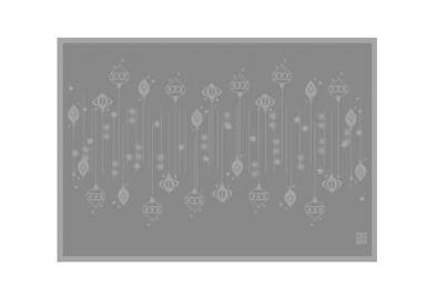 Uno Image DAMASK juleduk øko og 8 servietter grå