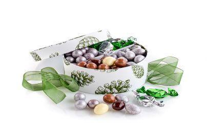 Hatteeske grønn kongle 4 ulike fyll 430g