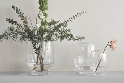 Stelton Hoop vaser klart glass 3 stk