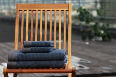 Halvor Bakke Noah håndklær, Vintage indigo 2+2