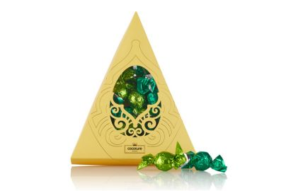 Cocoture trekanteske med grønne sjokoladekuler, 204g