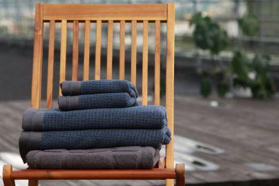 Halvor Bakke Noah håndklær, Vintage indigo 2+2+badematte