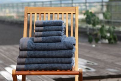 Halvor Bakke Noah håndklær, Vintage indigo 4+4
