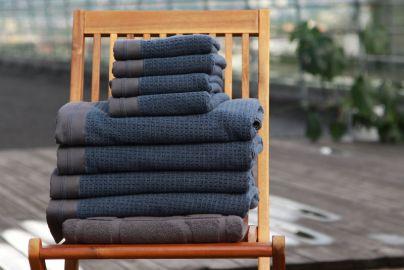 Halvor Bakke Noah håndklær, Vintage indigo 4+4+badematte