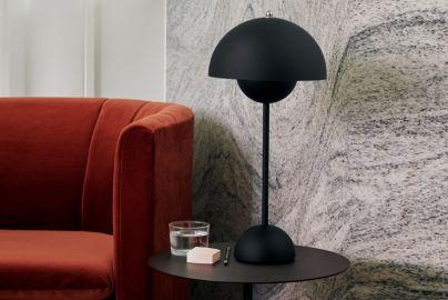 Verner Panton Flowerpot bordlampe VP3 matt sort