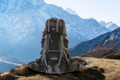 Explorer tur- og reisesekk, grå/sort 85L