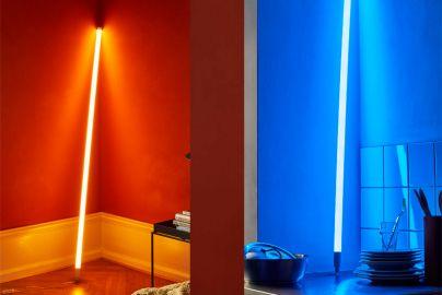Hay neonrør LED blå og varm hvit