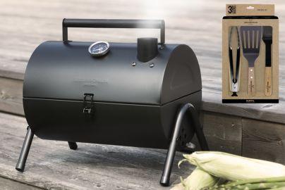 Grillin & Chillin BBQ grill sort og grillsett