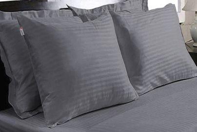 Dunlopillo sengesett grå 140x220