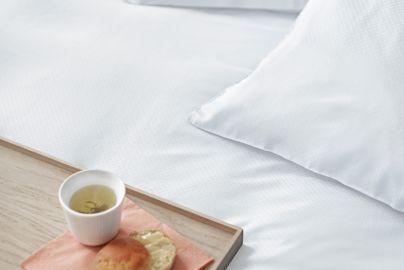 Skagen bambus sengetøy hvit 140x200/220 cm, 2 sett