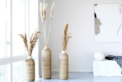 Bali bambus vaser 3 stk., 50, 60 og 70 cm